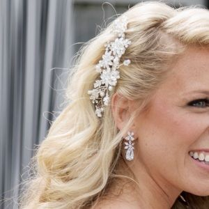 Wedding Hairpiece- Pearl and Crystals